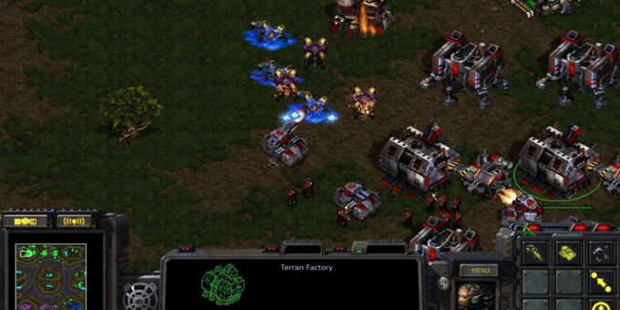 Old games on the PC: A scene from StarCraft