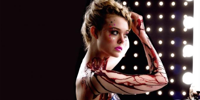 "How does Nicolas Winding Refn: frame from the film ""Neon Demon"""