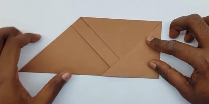 how to make the envelope right angle bend