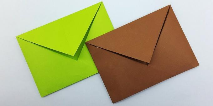 How to make a classic envelope in the origami technique without glue