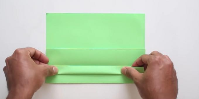 envelope with your hands without glue: make strip
