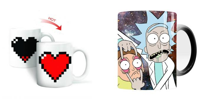 What to give the guy for February 14: A mug with a picture