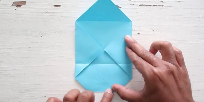 envelope with your hands: glue area