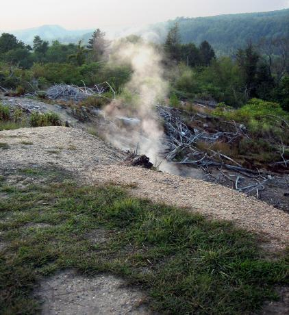 Centralia: the collapse of the soil