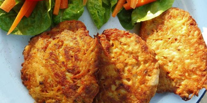 Cutlets from canned tuna with capers