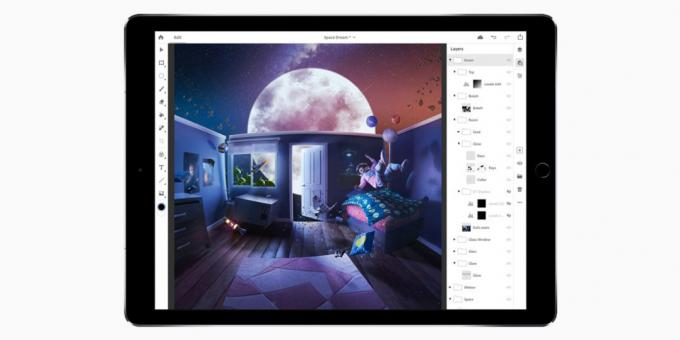 Adobe has released a full-fledged Photoshop for the iPad. On line Illustrator