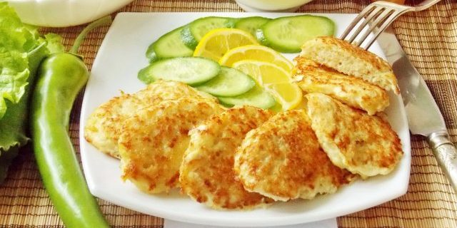 Fish cutlet with white wine