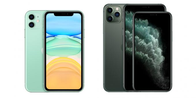 differences iPhone 11: Screens