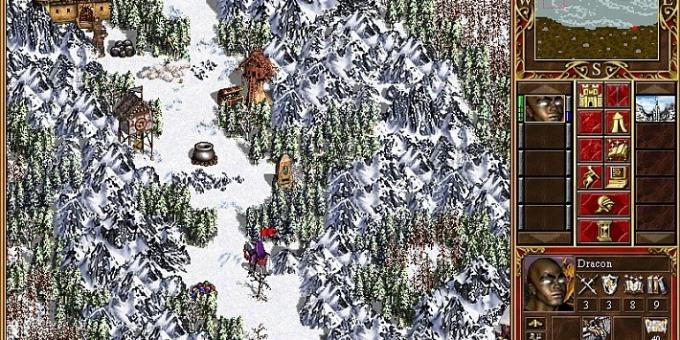 Old games on the PC: map in Heroes of Might and Magic III