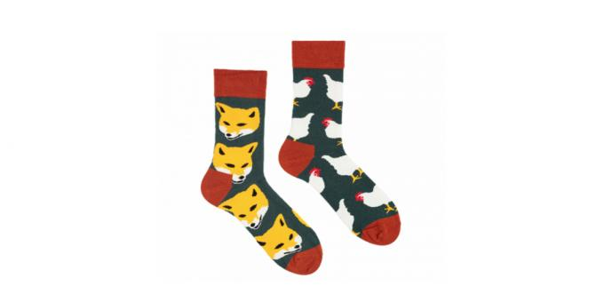 Long socks with a cheerful print