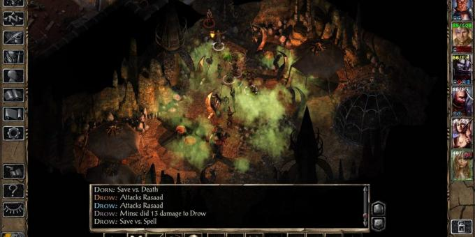 Old games on the PC: A scene from the Baldur's Gate II