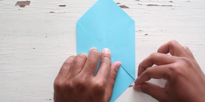 envelope with your hands: fold the right corner