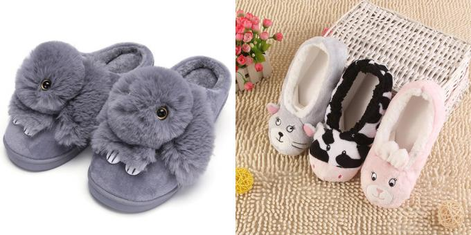 What to give a girl on February 14: cozy slippers