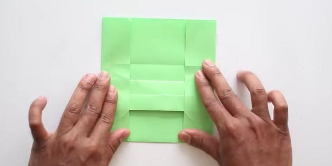 envelope with your hands without adhesive: fold the sides