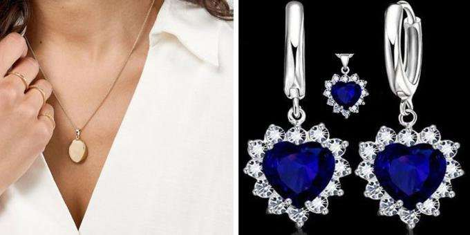 What to give a girl on February 14: Jewelry