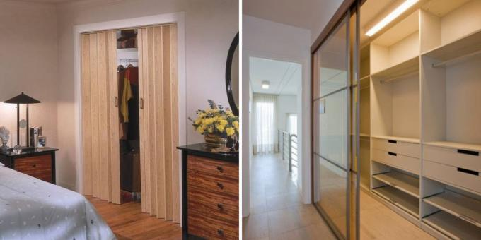 Dressing their own hands: the door can be opened both inside and out