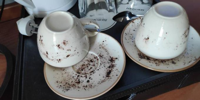 Unsuccessful design: dishes in the hotel