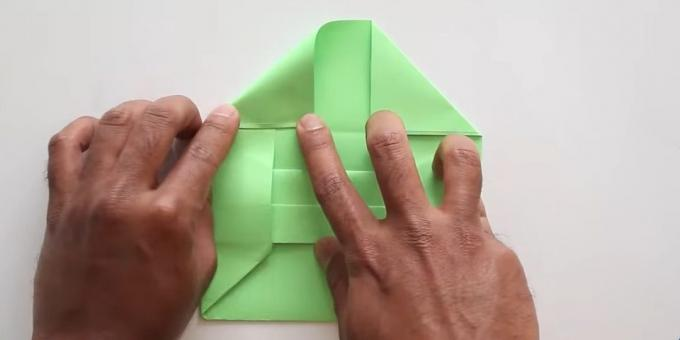 envelope with your hands without glue: shape the valve