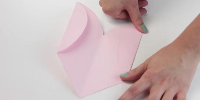envelope with your hands: fold the sides