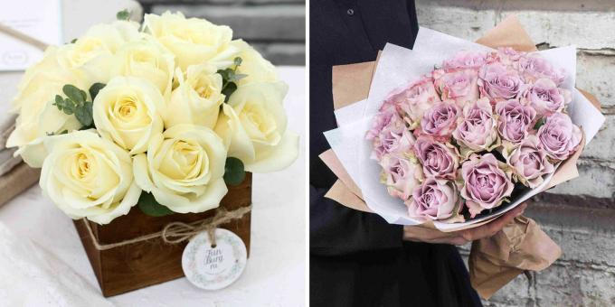 What to give a girl on February 14: Flowers delivery