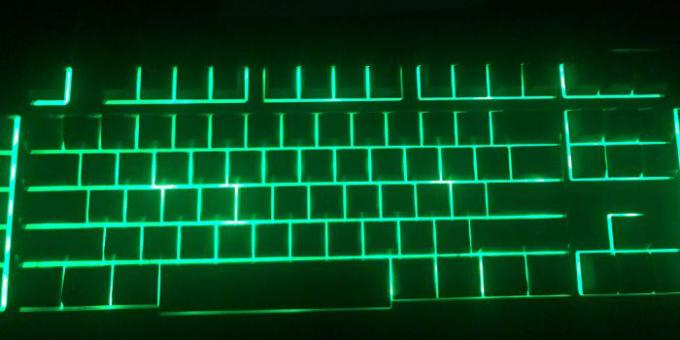 Unsuccessful design: The keyboard is not illuminated letters