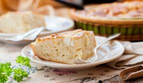 Jellied cabbage pie with mayonnaise
