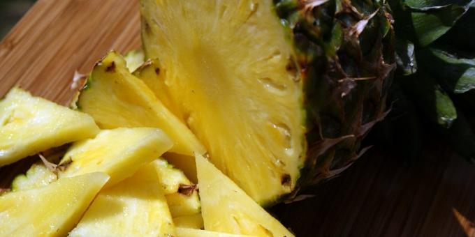 Useful fruits and berries pineapple