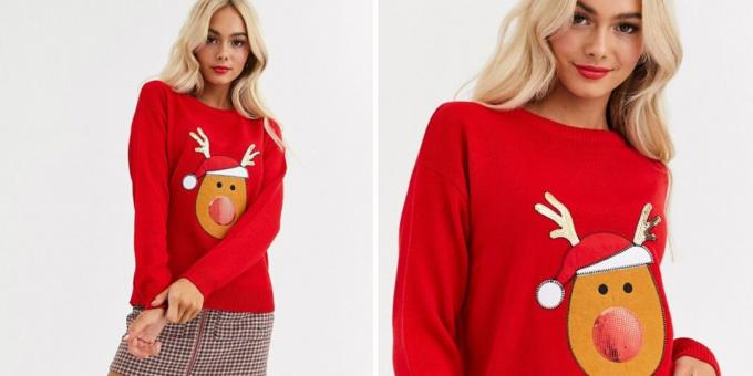 Christmas sweater with deer