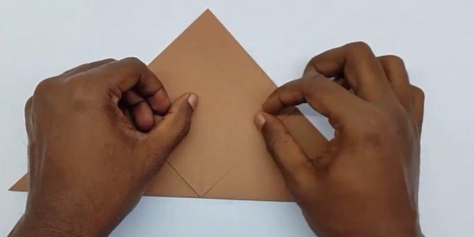 how to make the envelope front bend angle