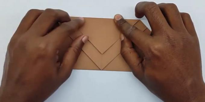 how to make an envelope fold the rear corner