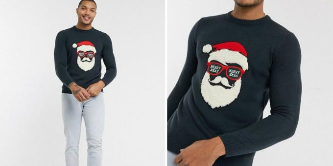 Print with Santa hipster